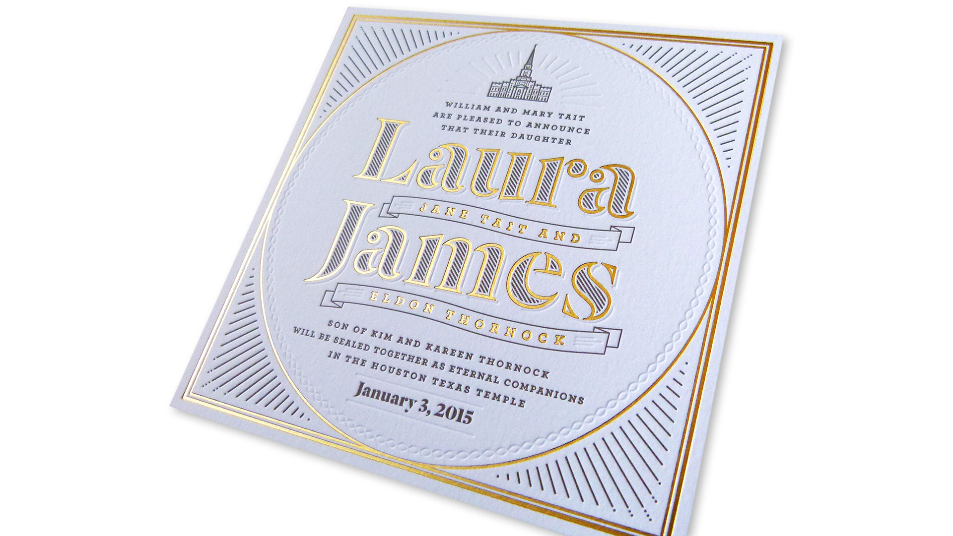 Laura + James Wedding Invitation - PaperSpecs