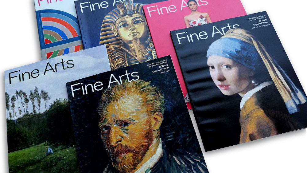 Perfect binding fine arts magazines.