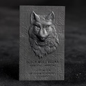 black wolf vodka business card