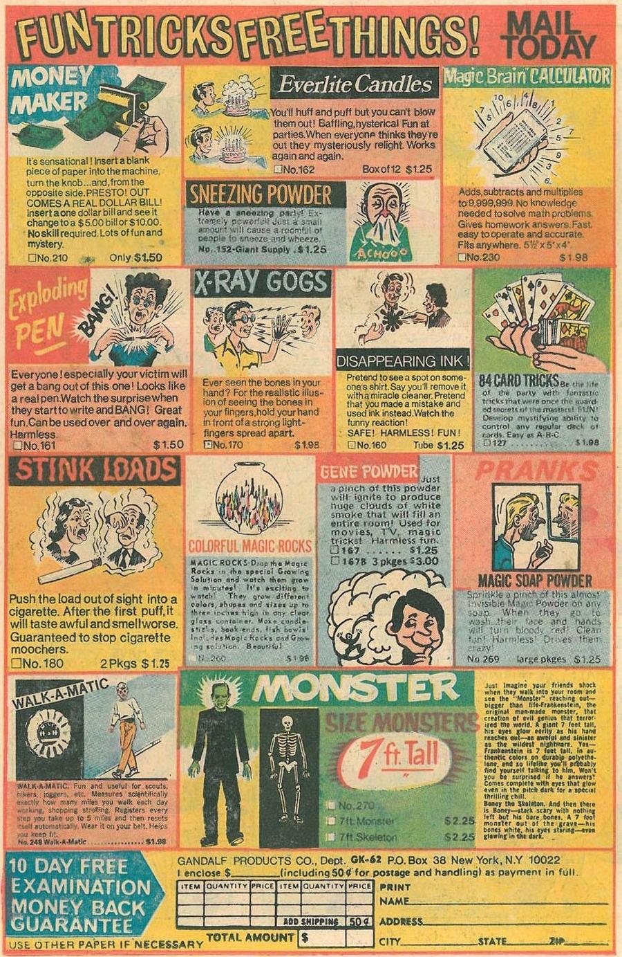 comic ads