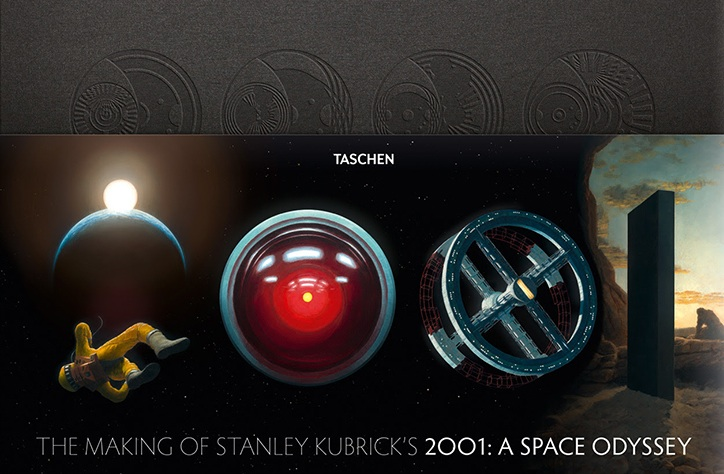 "Cool design for 2001 book, ""The Making of Stanley Kubrick's 2001: A Space Odyssey""."