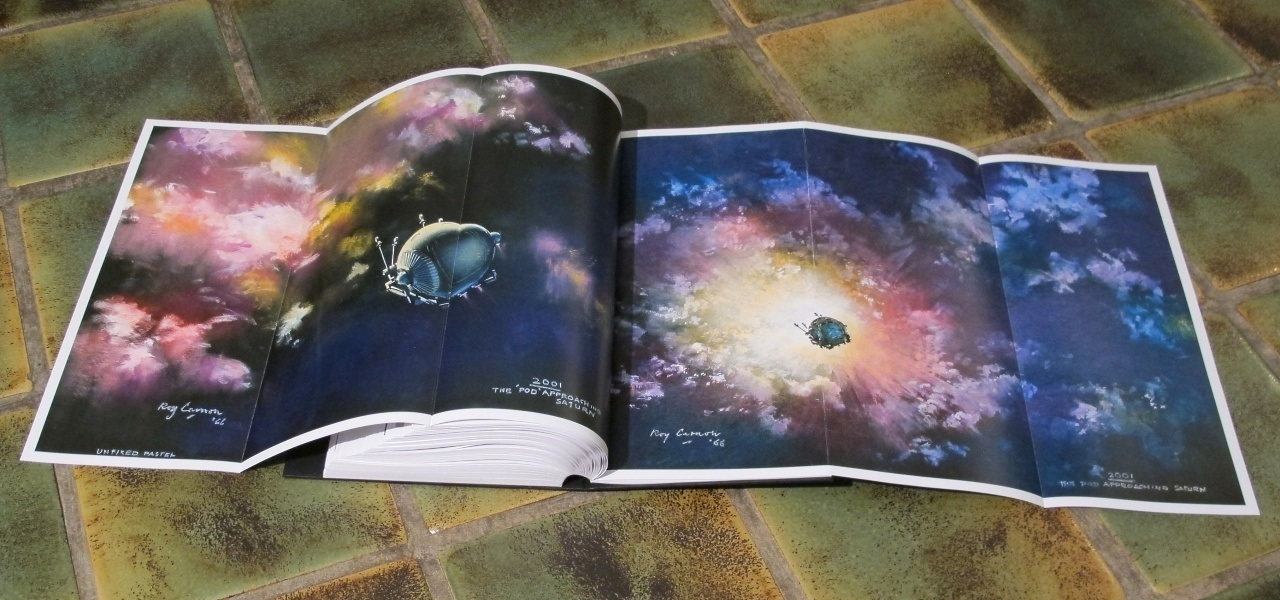 Inside cool design for space book.