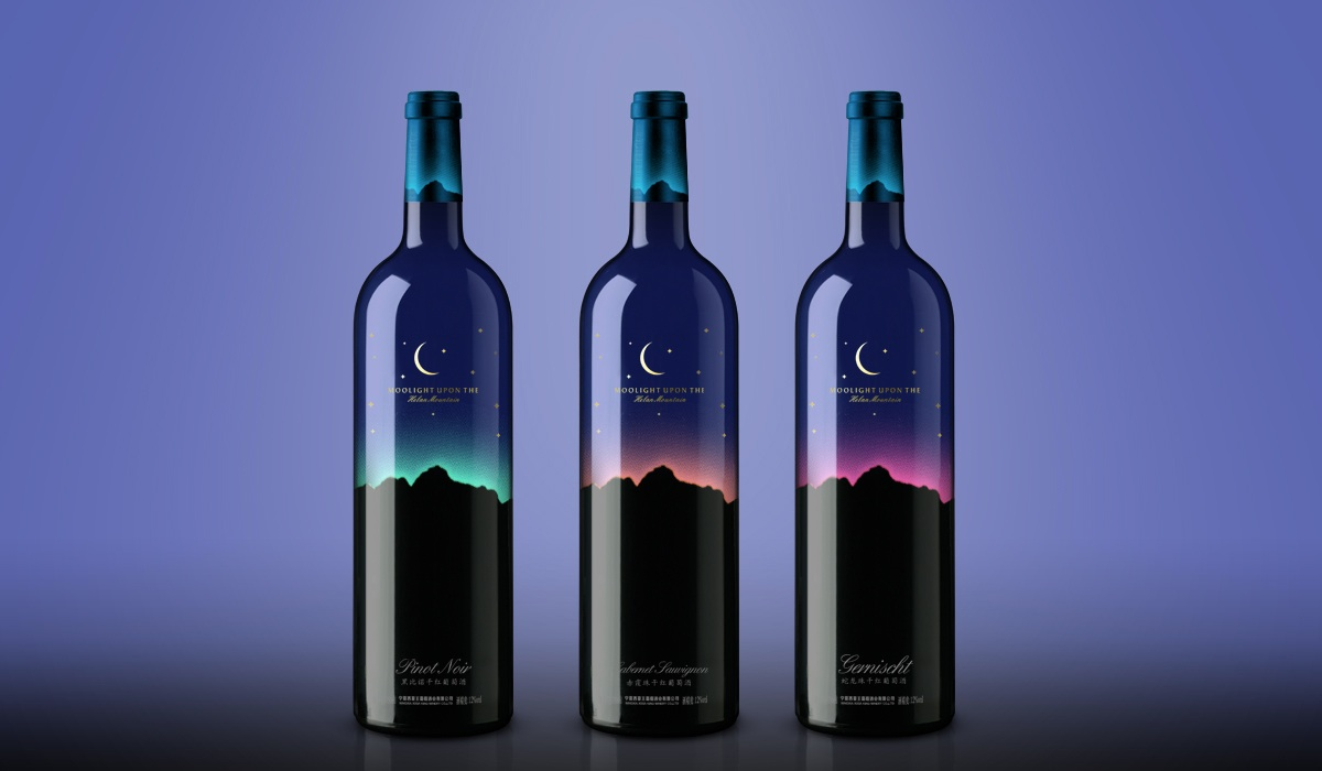 moonlight wine bottle design