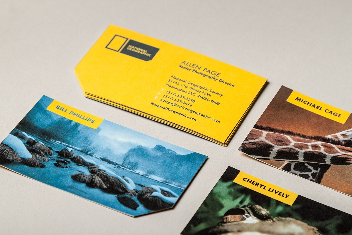 national geographic business card