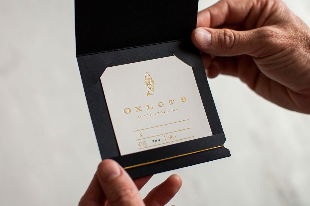 Oxlot 9 Gift Card - PaperSpecs