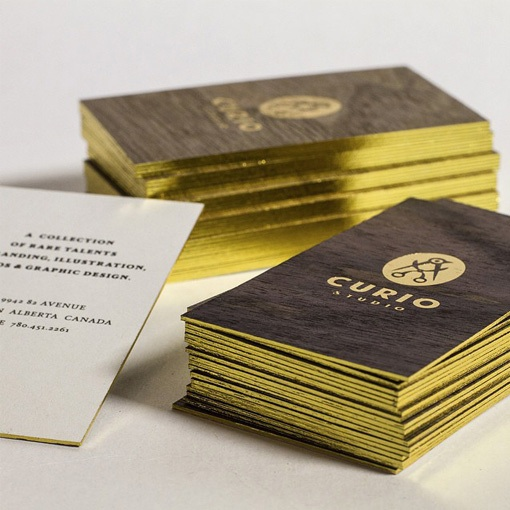 curio studio business card