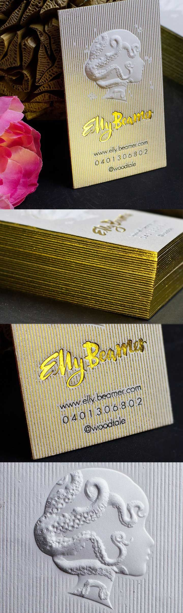 elly beamer business card