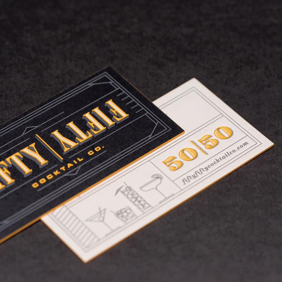 fifty fifty business card