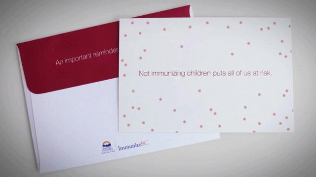 immunize bc mailer design