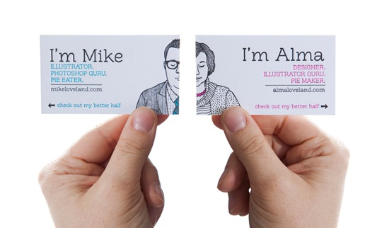 mike and alma business card