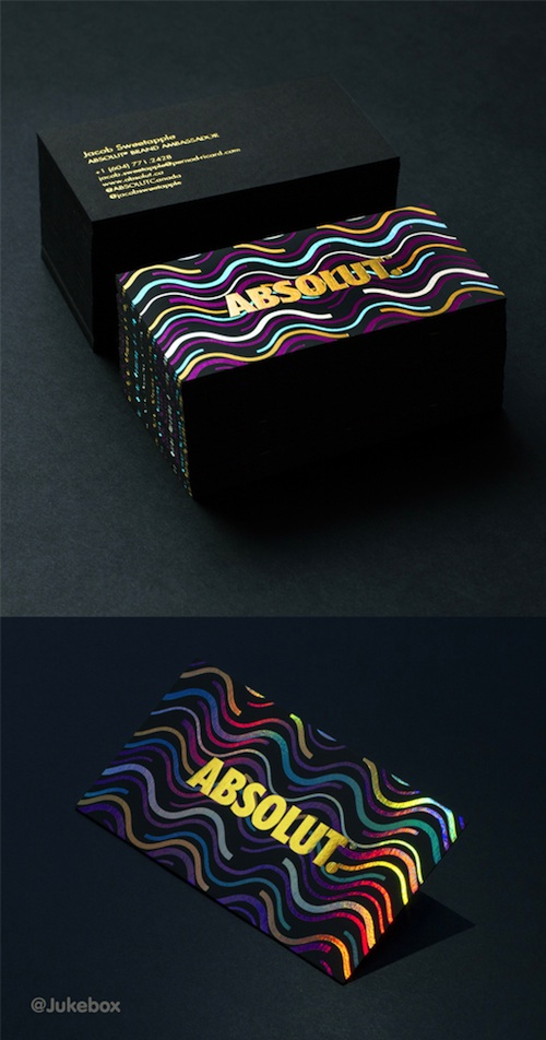 absolut business card