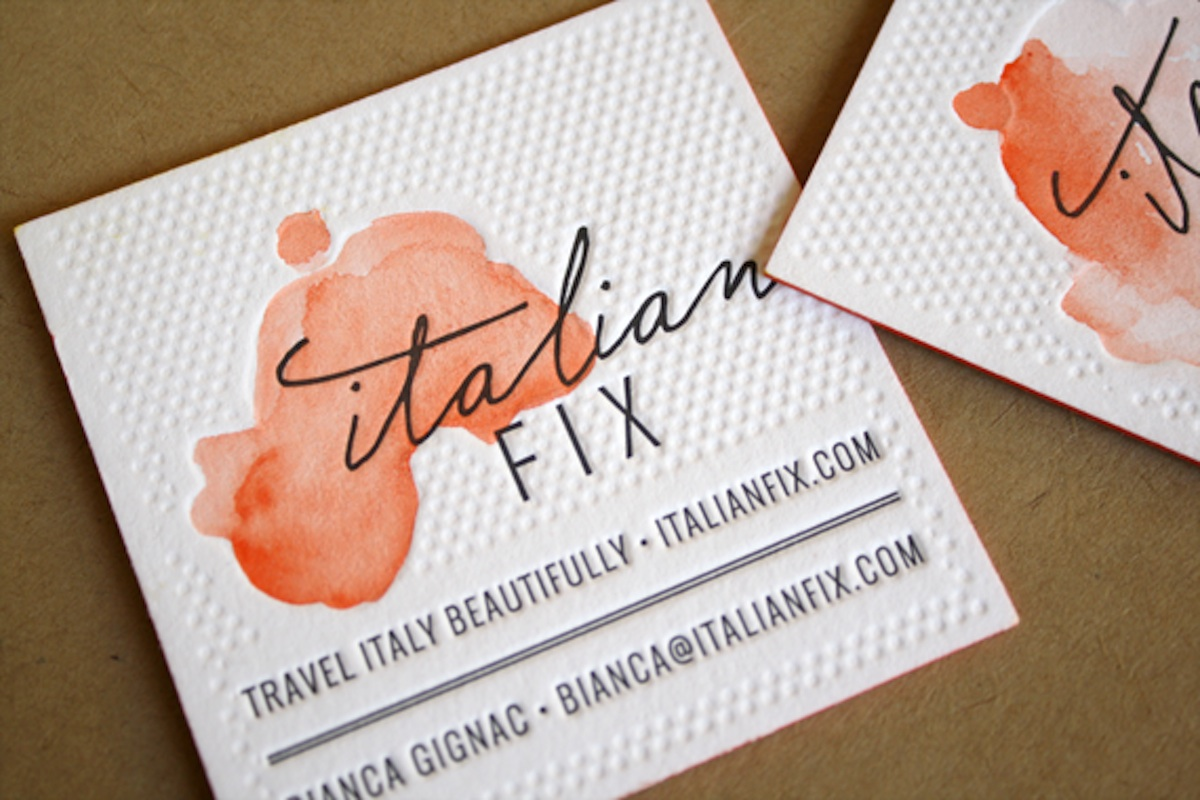 italian site business card