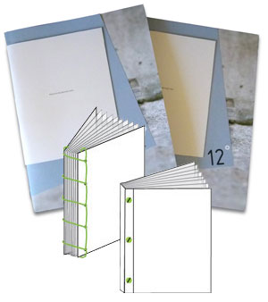 Printing binding options example picture depicting the differences
