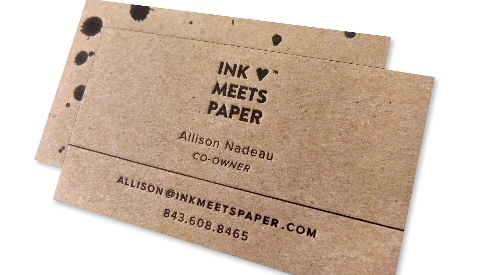 Ink Meets Paper Stationery