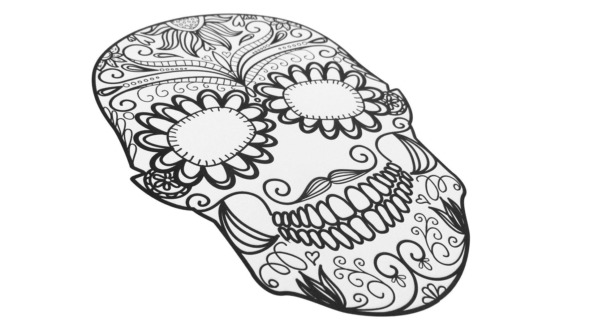ADC Paper Show Digital and Letterpress Skull Sheets - PaperSpecs