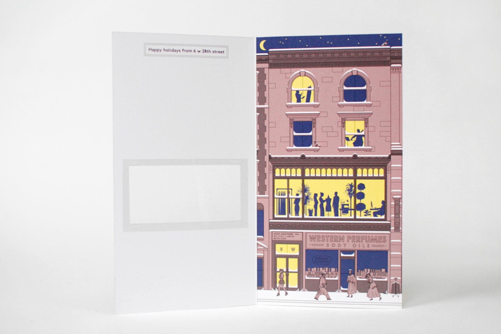 fashion label holiday card