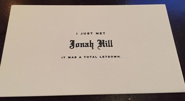 jonah hill business card