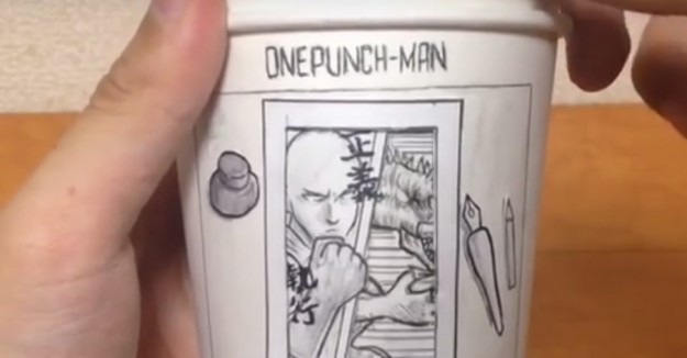 onepunch man cup design