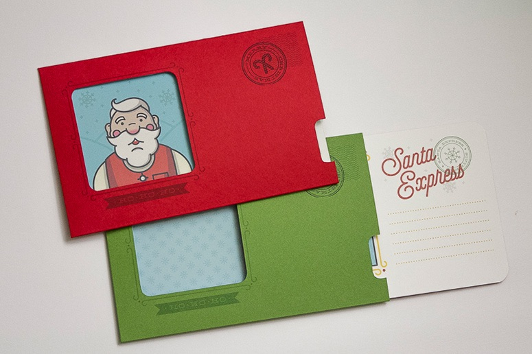 santa express card design