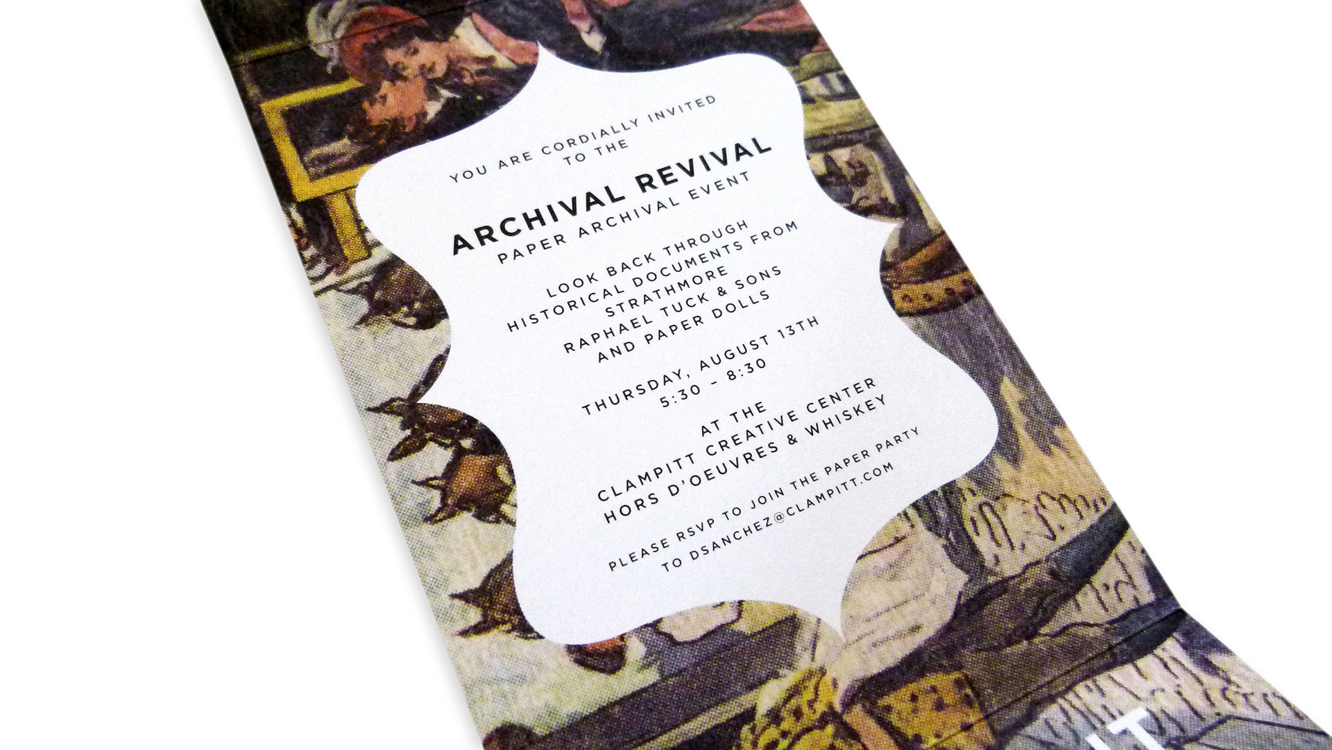 Clampitt Paper Archival Revival Invitation – PaperSpecs