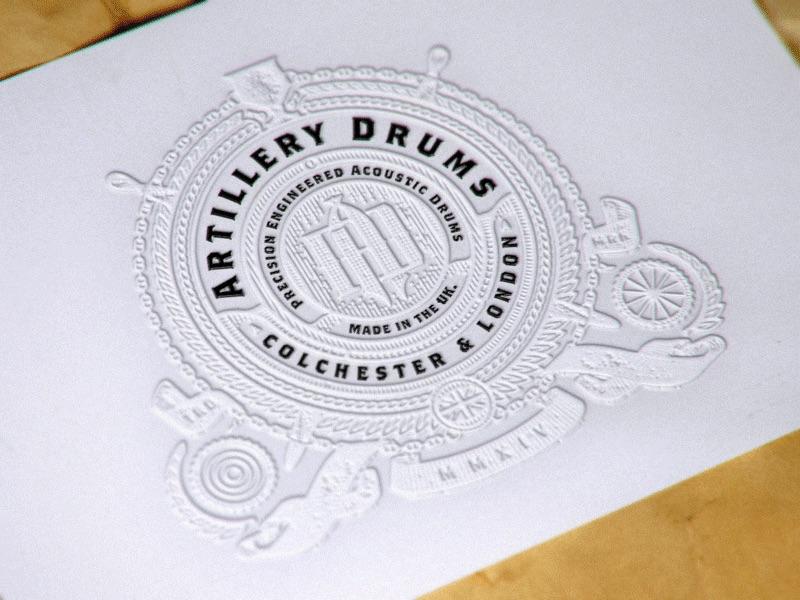 artillery drums business card