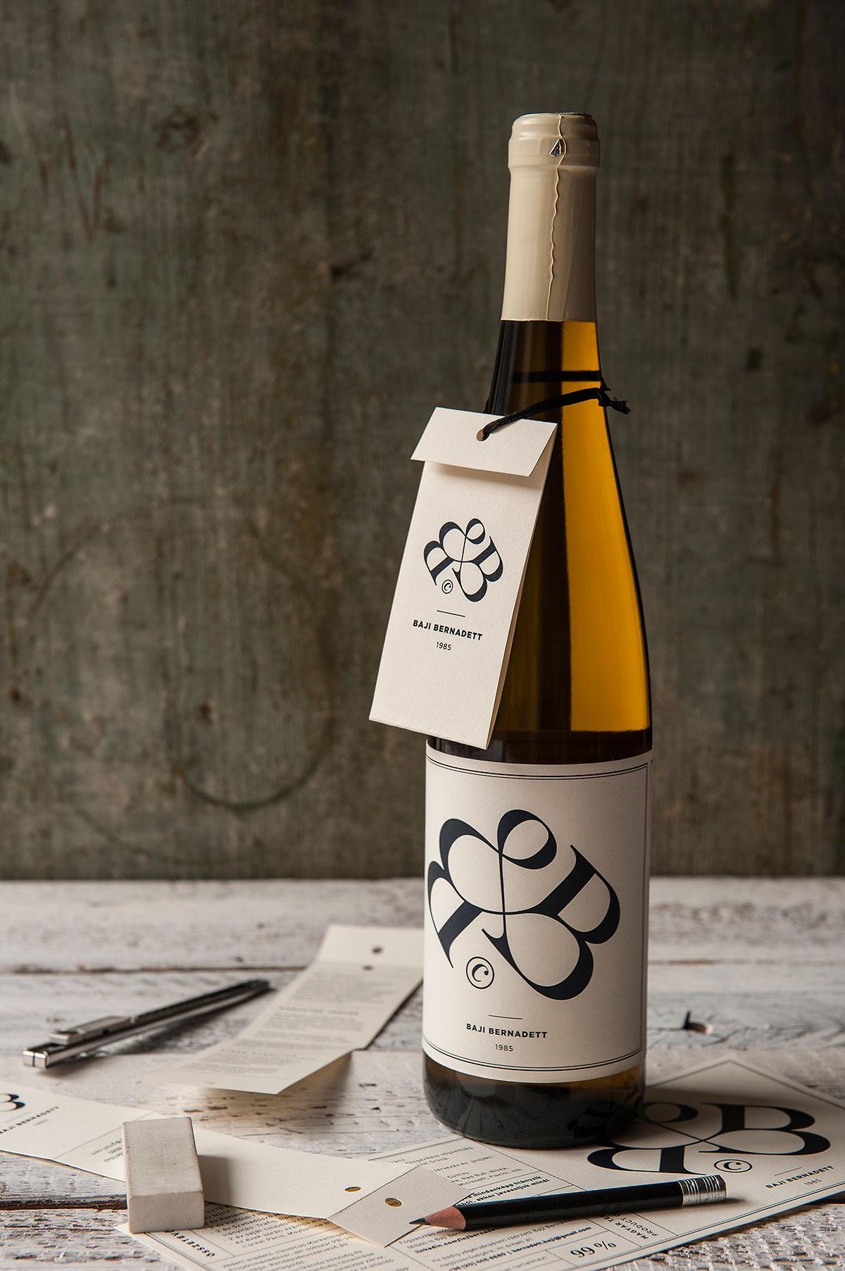 wine bottle resume design