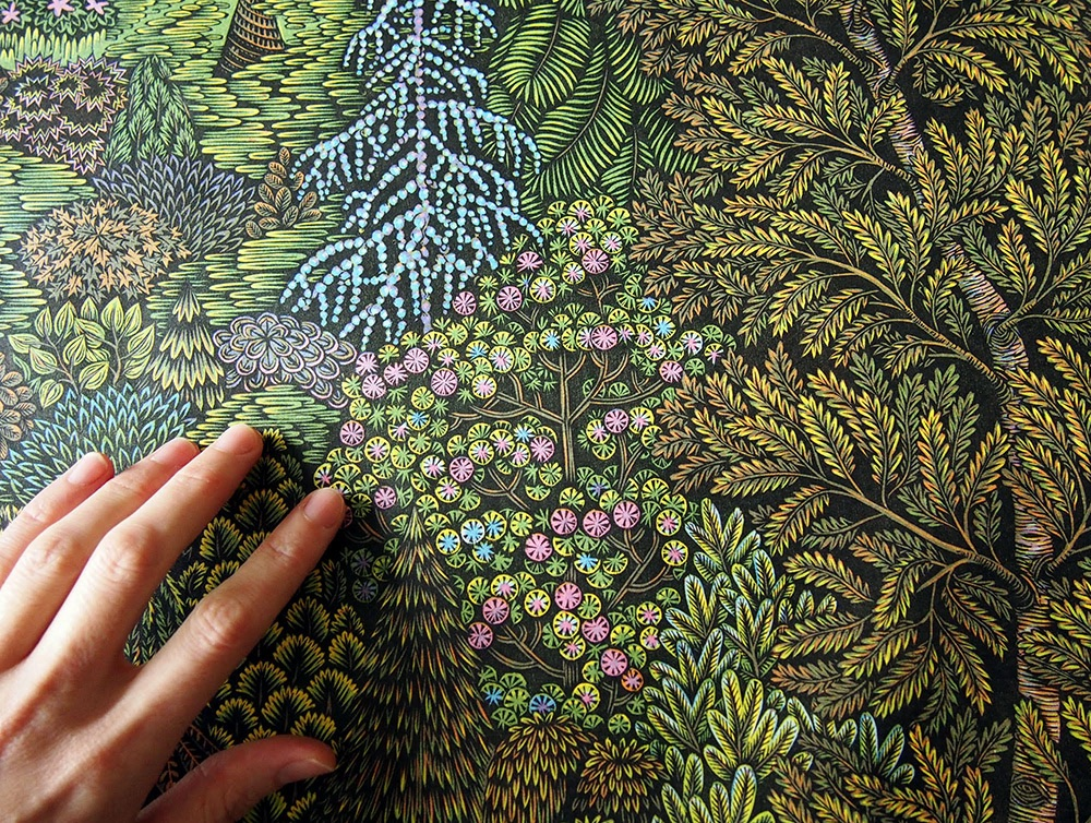 woodcut print design