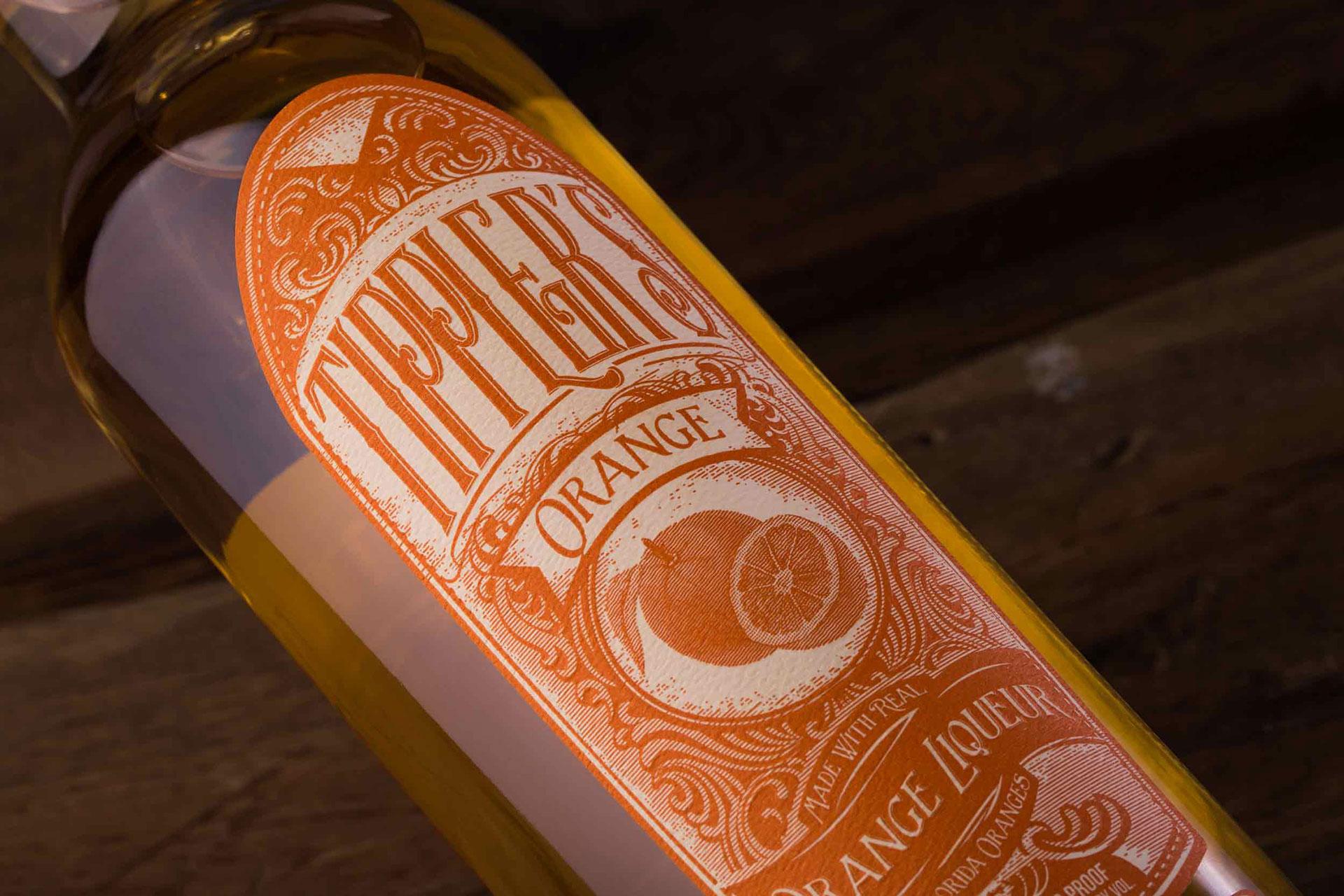 Tippler's Orange Liqueur Label - PaperSpecs