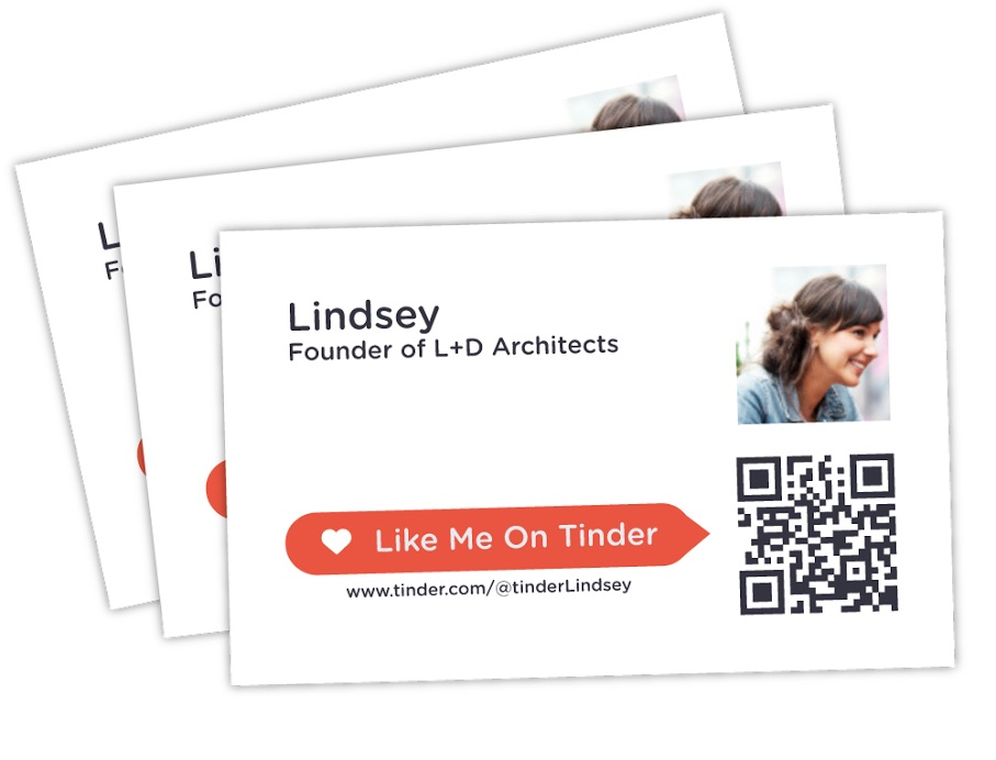 tinderme business cards