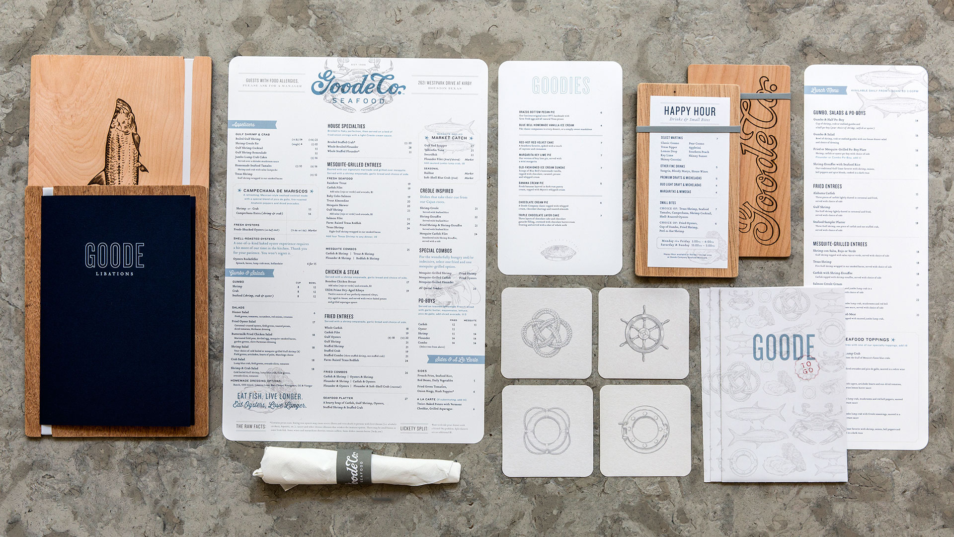 Goode Company Seafood Menu System - PaperSpecs