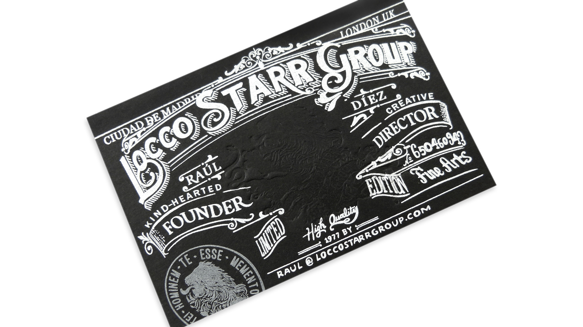 Locco Starr Group Business Cards - PaperSpecs