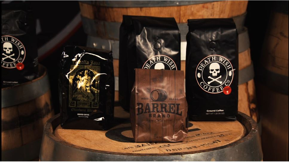 Death wish coffee packaging