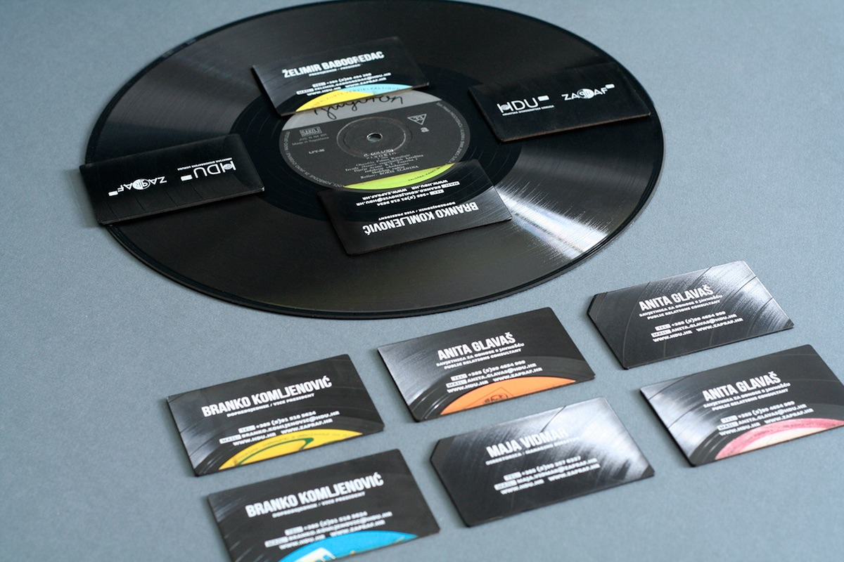 vinyl business cards