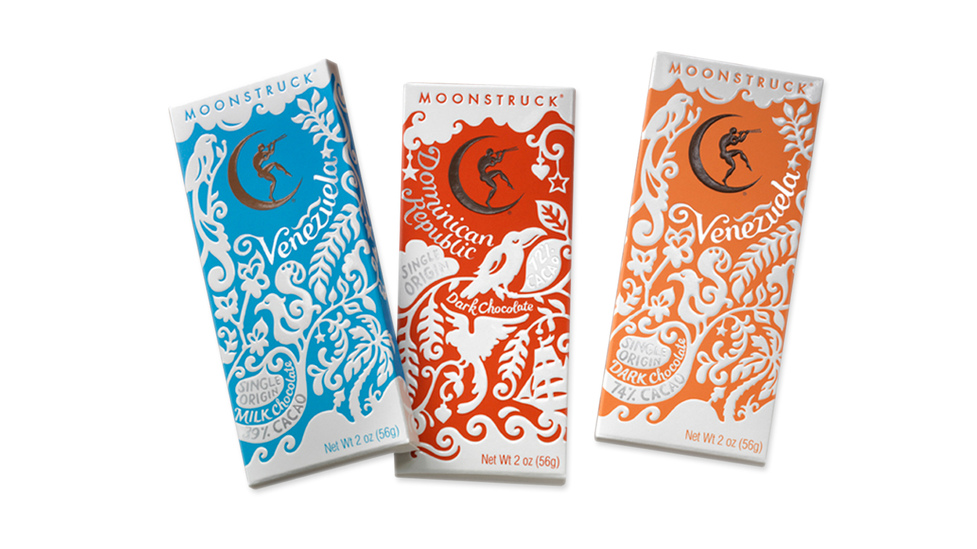 Moonstruck Chocolate Packaging - PaperSpecs