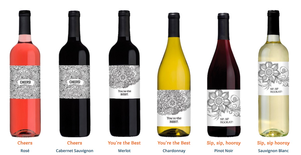 Cool Packaging ColorItYourself Wine Label  Paperspecs