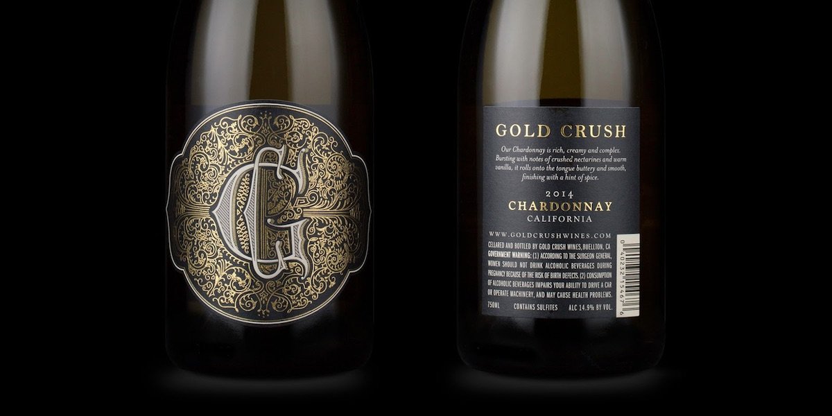 gold crush label