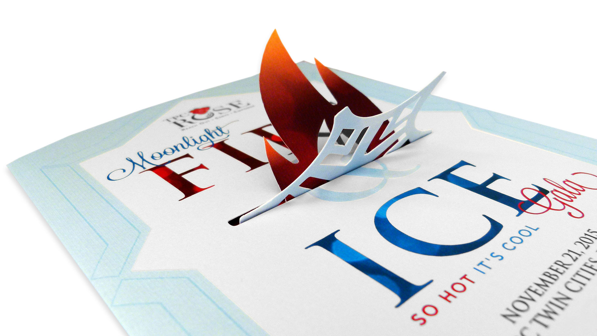 TPC ROSE Fire & Ice Moonlight Gala Invitations