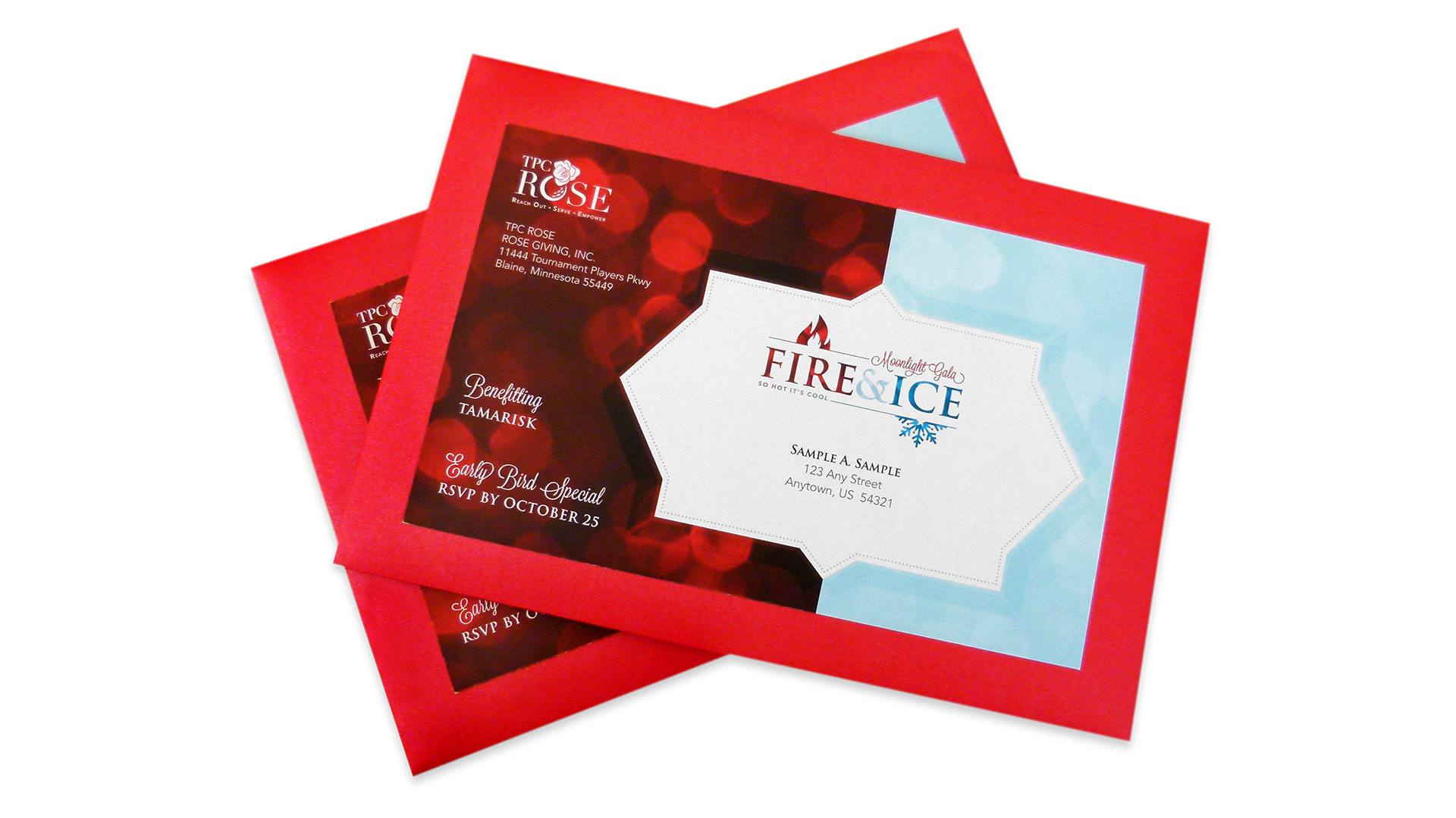 TPC ROSE Fire & Ice Moonlight Gala Invitation - PaperSpecs