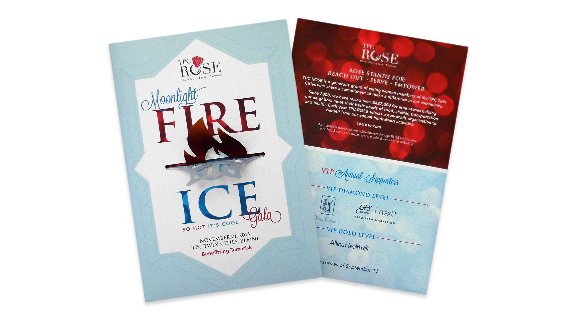 TPC ROSE Fire Ice Moonlight Gala Invitations