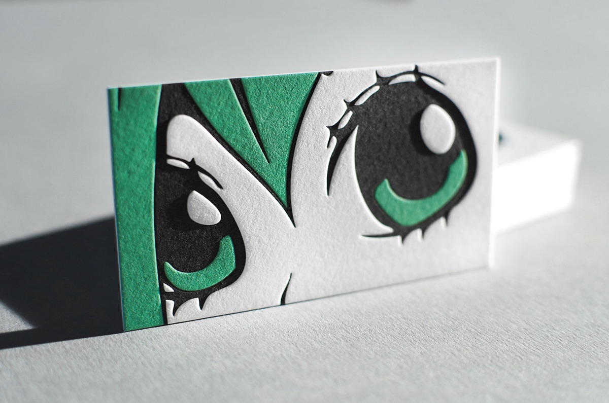 arcn manga style business card