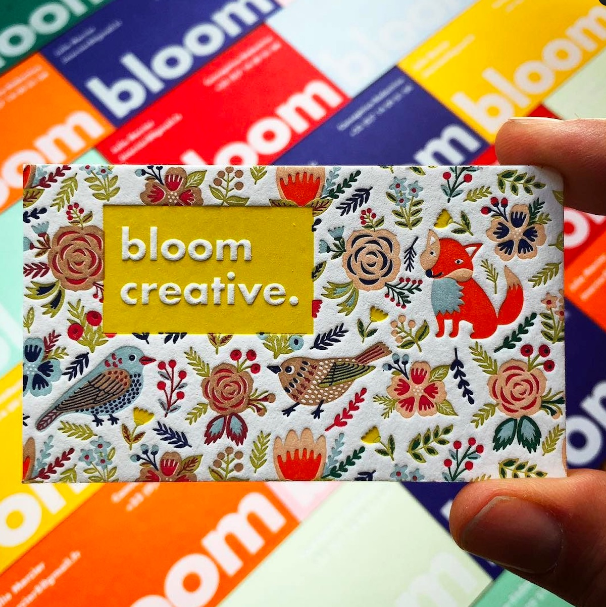 bloom creative business card