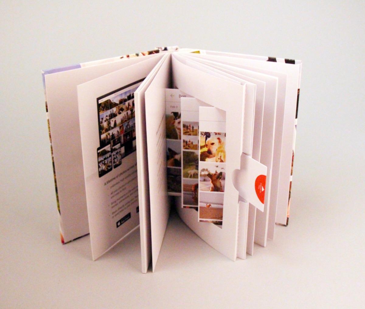 google popup book design