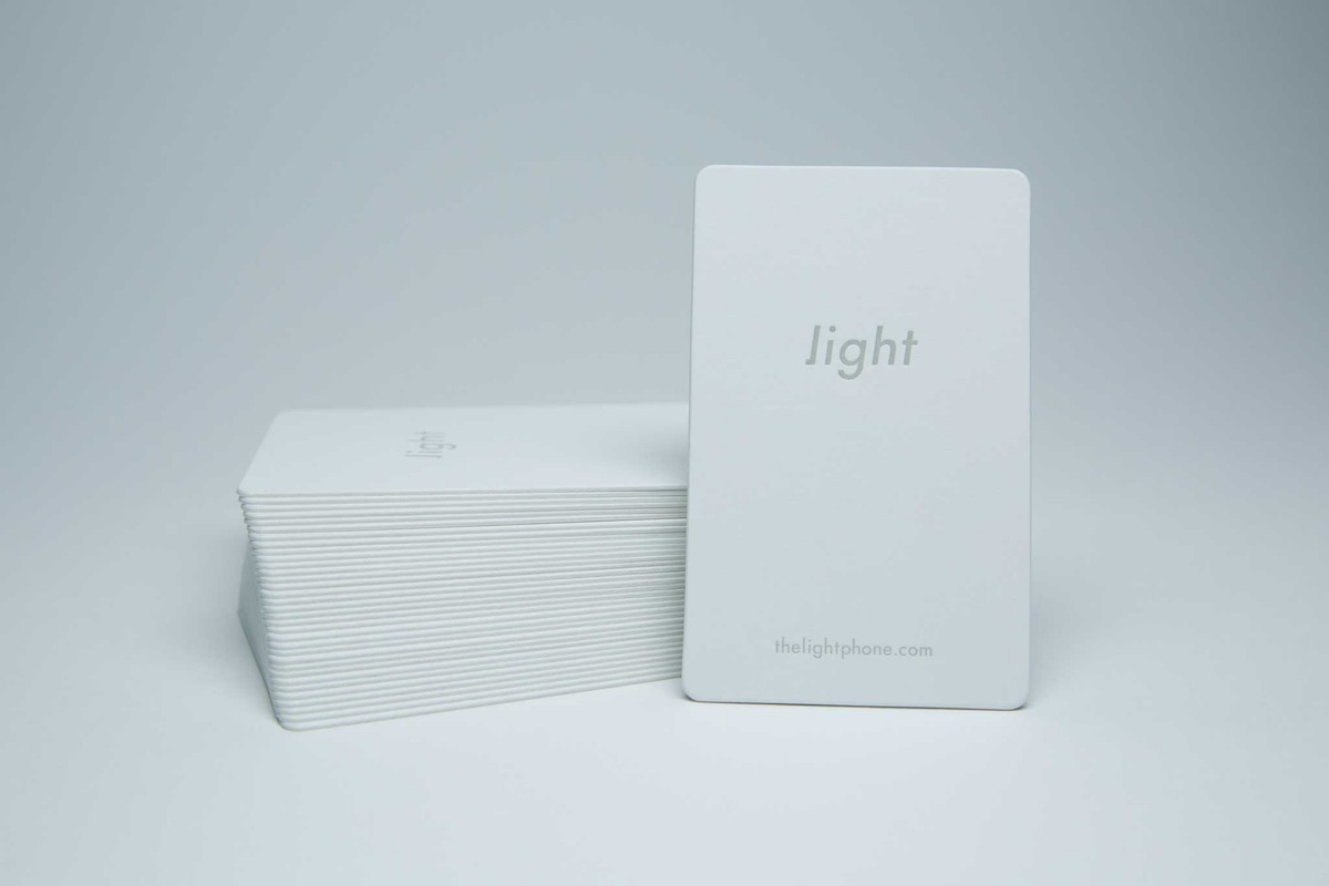 light phone business card