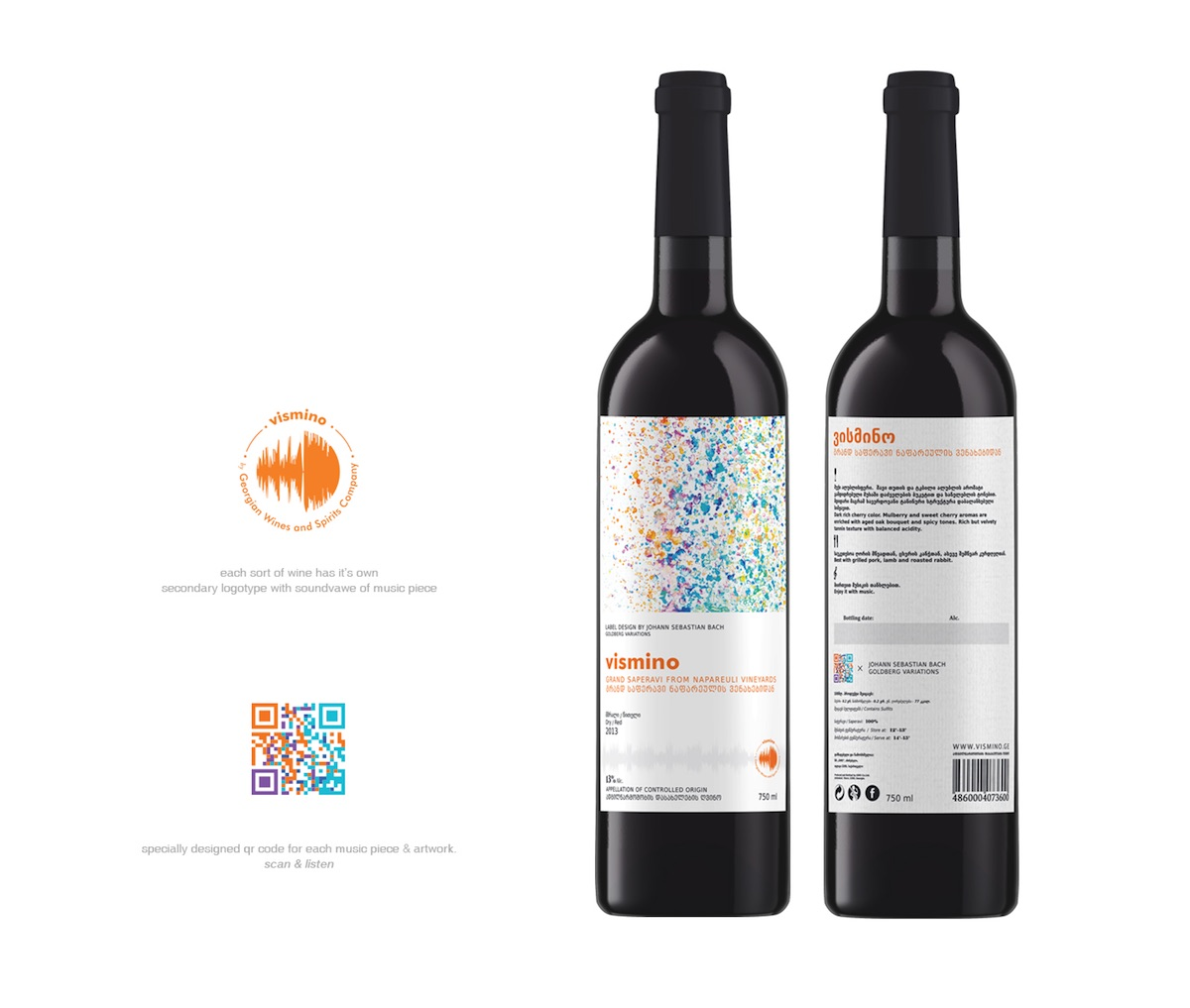 vismino wine label packaging