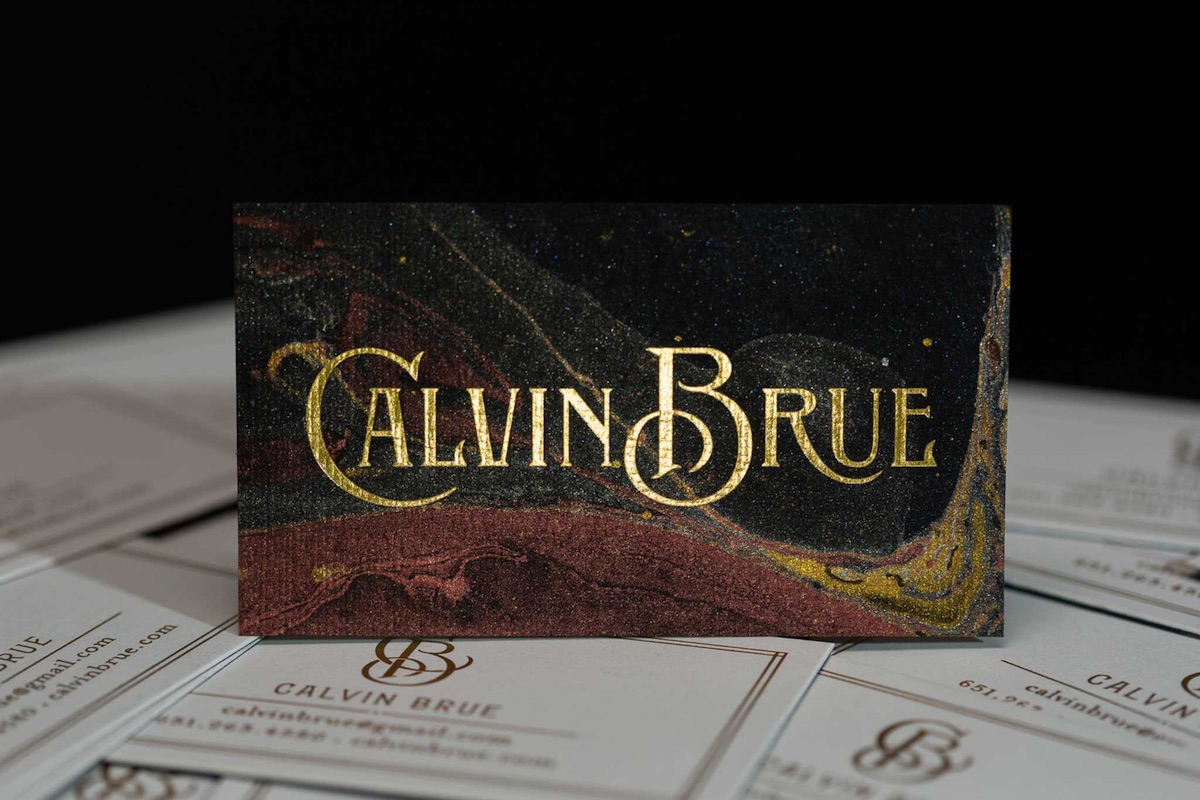 calvin brue business card