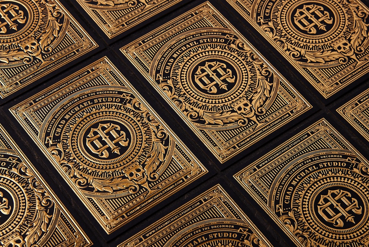 Chad Michael Studio Business Card - PaperSpecs