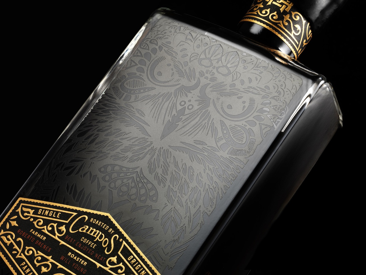 mr black liqueur label design