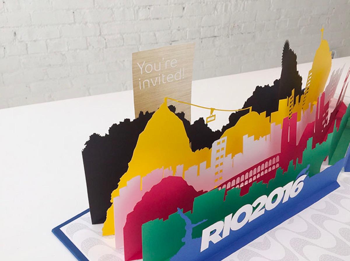 rio 2016 popup invitation