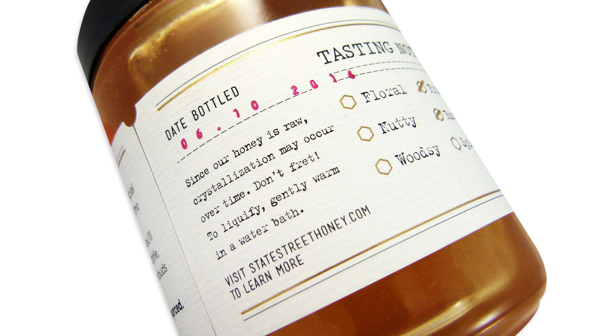 State Street Honey Packaging - PaperSpecs