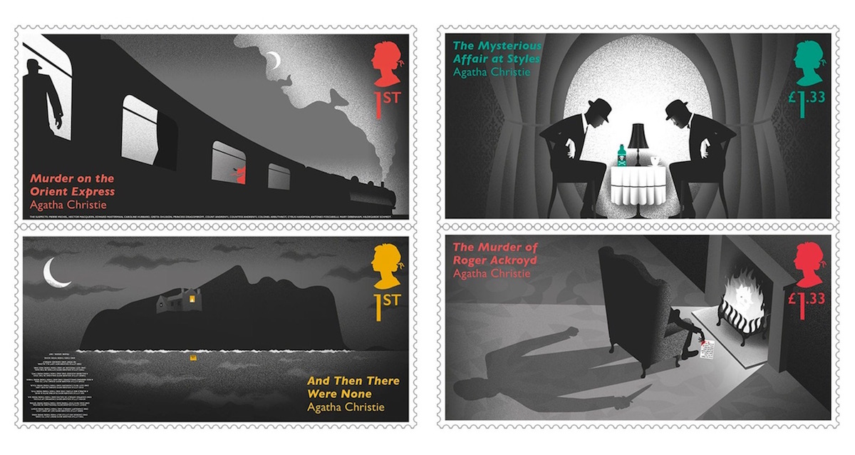 agatha christie stamp design